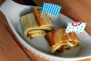 Zucchini Pfannkuchenröllchen